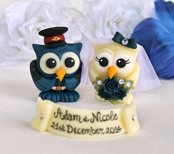 Owl Love Bird Wedding Cake Topper Royal Military Police Uk
