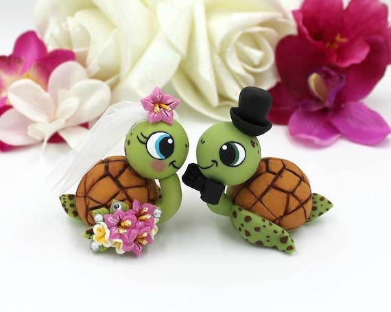 Sea turtle cake topper wedding custom cake topper sea animal   Etsy