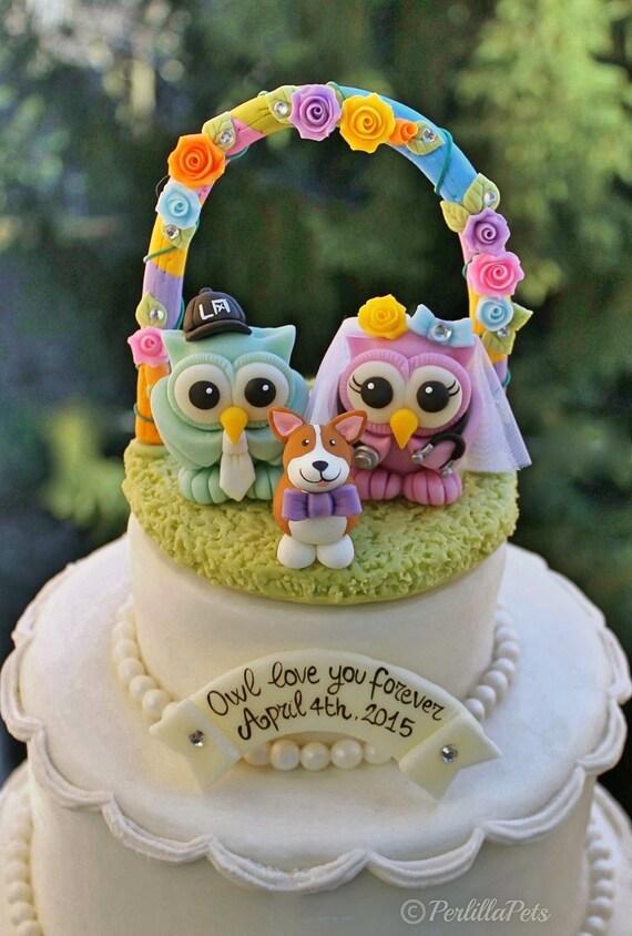 Hochzeit Eule Kuchen Topper Liebe Vogel Kuchen Topper Etsy