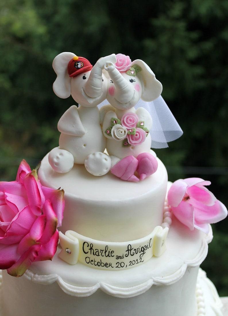 Elefant Hochzeit Kuchen Topper Einzigartige Hochzeitstorte Etsy