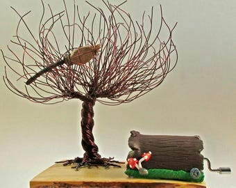 Whomping Willow With Music Box ~~ Tree Sculpture