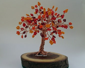 Autumn Tree Sculpture  ~~~ Wire Tree Sculpture ~~ Tree Of Life