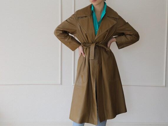 1970s / Bonnie Cashin Sills tan leather jacket coa