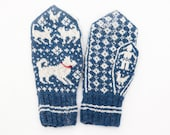 Where are the Chickens? Mitten knitting pattern - instant digital download