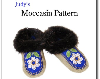 Men's moccasin pattern, all sizes - download
