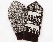 Marvellous Moose Mittens knitting pattern - instant digital download