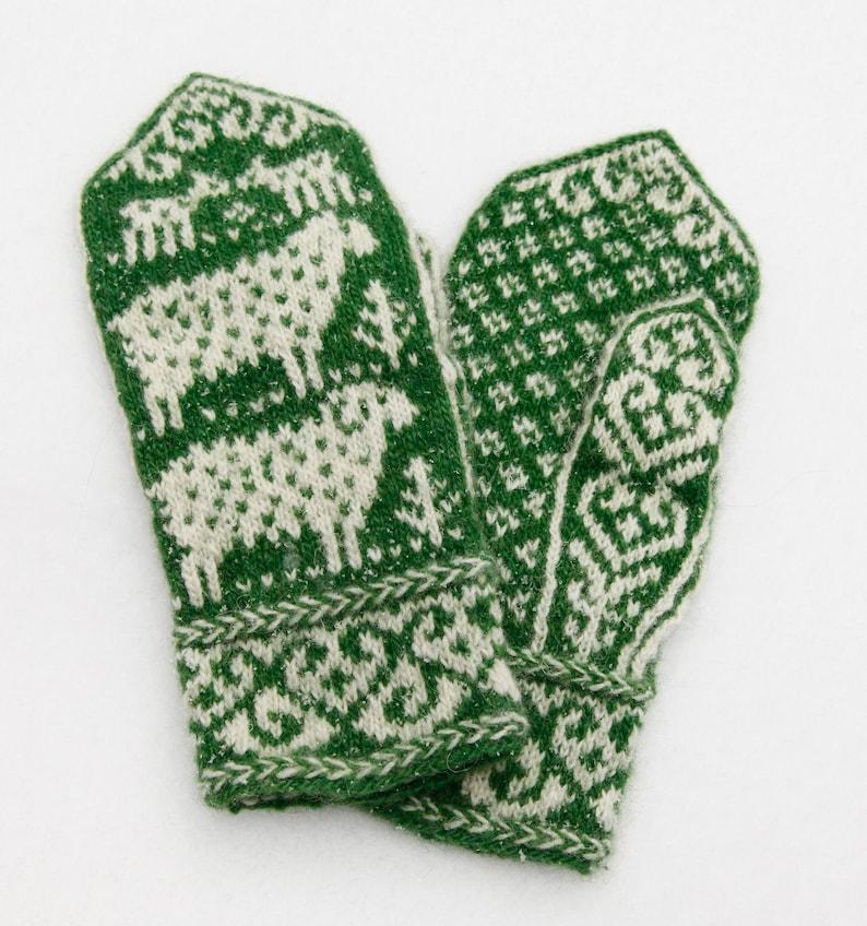 Sheepish Mittens knitting pattern  digital download image 0