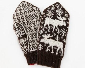 Marvellous Moose Mittens knitting pattern - instant digital download