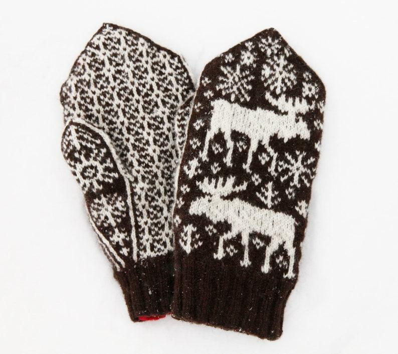 Marvellous Moose Mittens knitting pattern  instant digital image 0