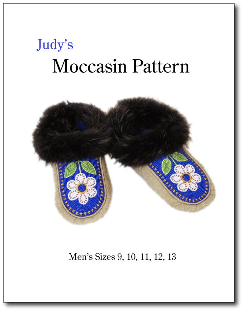 Men's moccasin pattern all sizes  download image 0