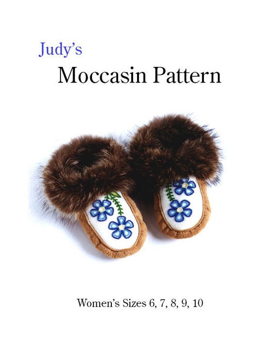 Womens Moccasin Pattern All Sizes Download Etsy