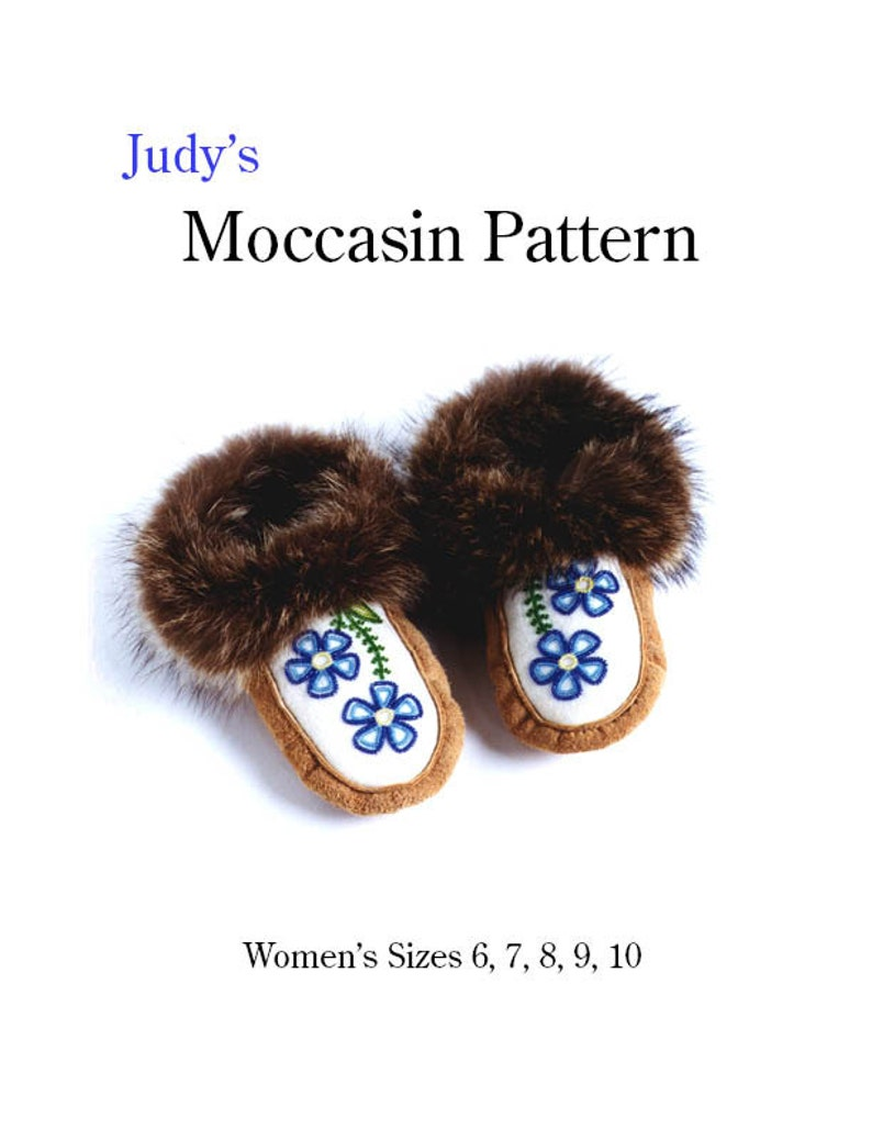 Women's moccasin pattern all sizes  download image 0