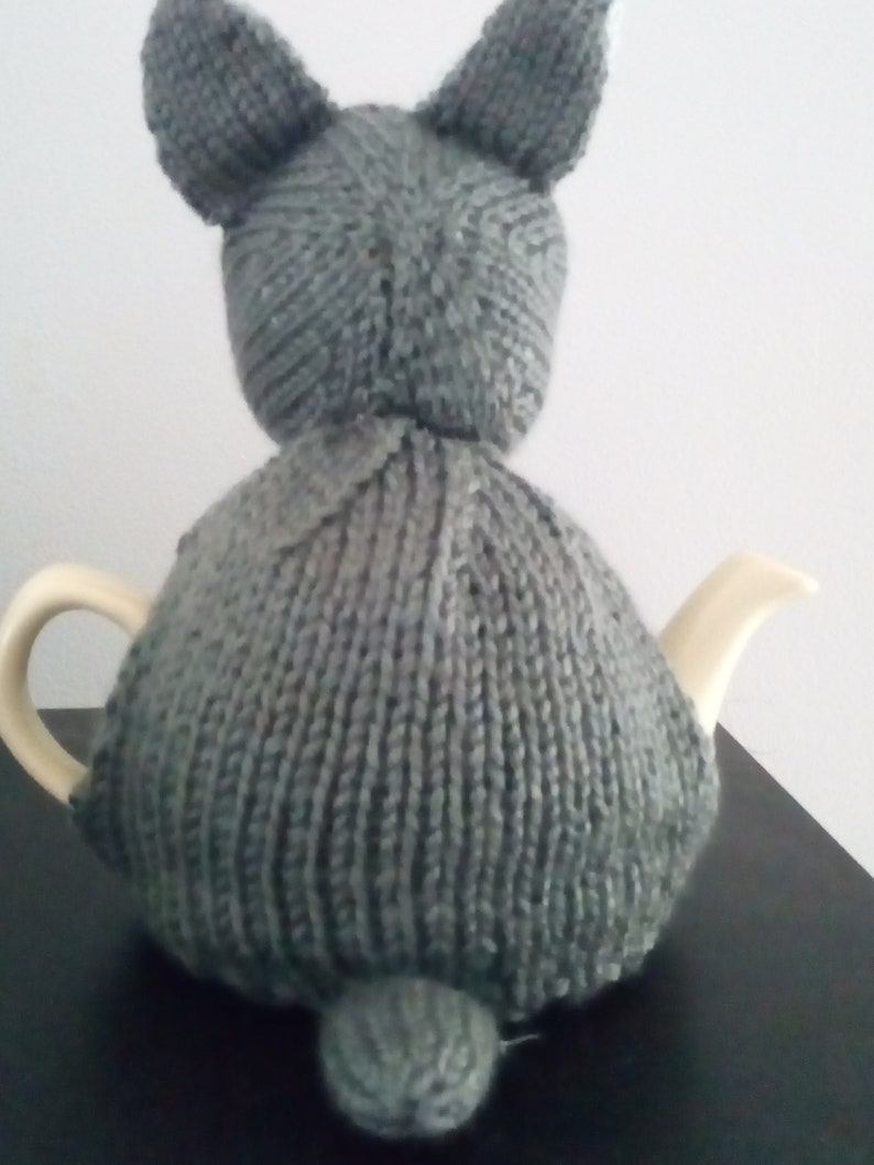 French Bulldog Hand Knitted Tea Cosy to fit small 2 cup tea pot
