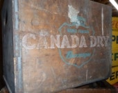 Canada Dry ,Box ,Vintage Box,Drink Crate, Wooden Advertising Box , Drink Box,