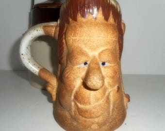 Coffee Mug, Pottery Mug , Handmade Coffee Mug , Large Mug, Frankenstein Coffee Mug