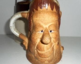 Coffee Mug, Pottery Mug , Handmade Coffee Mug , Large Mug, Frankenstein Coffee Mug