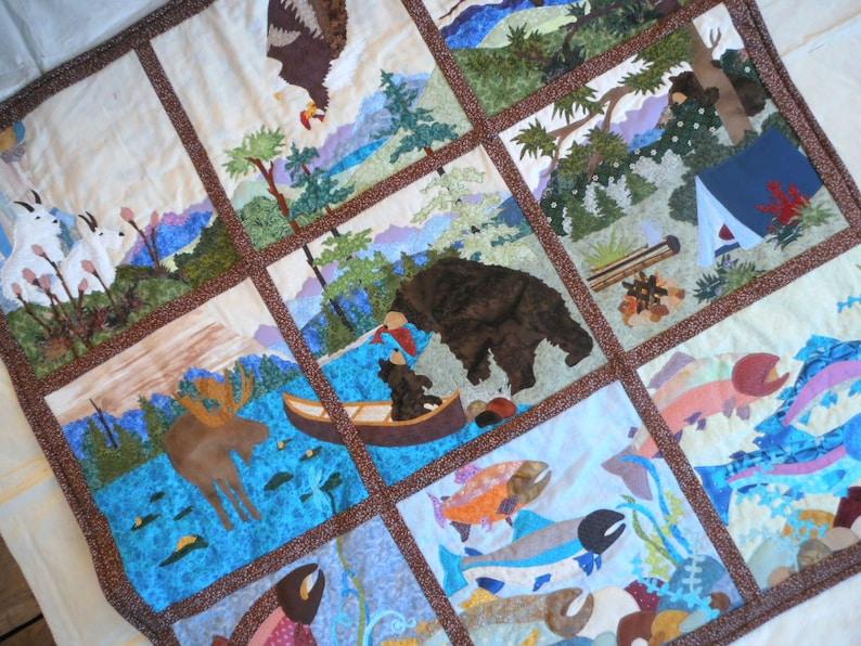 Applique Art Quilt Alaska Wildlife Quilt Alaska Applique image 0