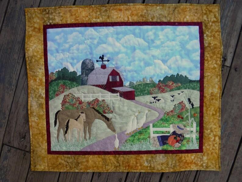 Autumn Stroll Applique Quilt Applique Art Quilt McKenna Ryan image 0