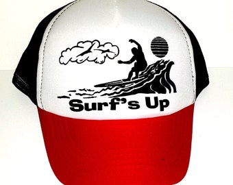 98c7dda7546 KID S Surf s Up Surfing Mesh Trucker Hat Cap Youth Neon Beach Summer