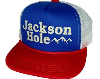 Kid s Jackson Hole Wyoming TODDLER Snapback Mesh Trucker Hat Cap RWB Ski  Snowboard 57d8fb8431b0
