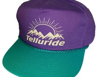 Purple Teal 80 s Mammoth Aspen Vail Neon Boardwalk Snapback Hat Cap Ski  Snowboard Killington Squaw Park City f7ca996a761a