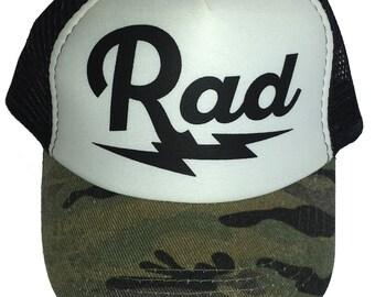 Kid s Youth TODDLER Rad Radical Mesh Trucker Hat Cap Camo Camouflage ca0c25f16641