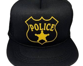 9830f6e9f53 Kid s Police Officer Cop Halloween Snapback Mesh Trucker Hat Cap Costume  Sheriff
