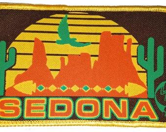 1fd7a988ab1 Sedona Arizona 3x5 Embroidered Patch Hat Cap Kokopelli Cactus Red Rocks