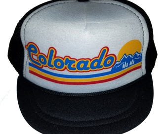 Colorado Sunset Snapback Baby Sized Mesh Trucker Hat Cap Newborn 6c67b4d6a146