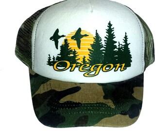 0056005051e43 KID S TODDLER Oregon Snapback Mesh Trucker Hat Cap Camo Camouflage
