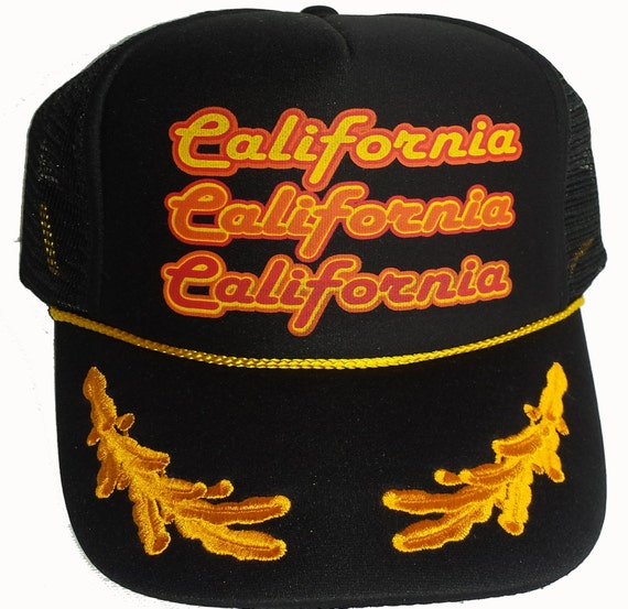 Black Captain Gold Leaf Repeat California Snapback Mesh aa0b37459bbc