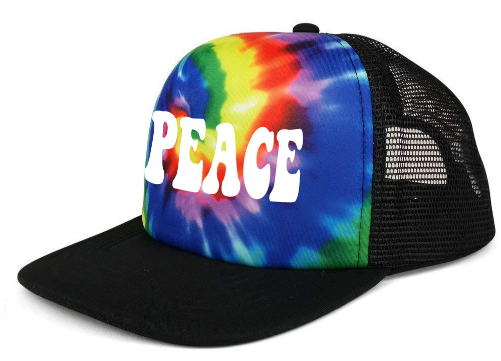 Custom Tie Tye Dye Adult Mesh Trucker Hat Cap Design Snapback