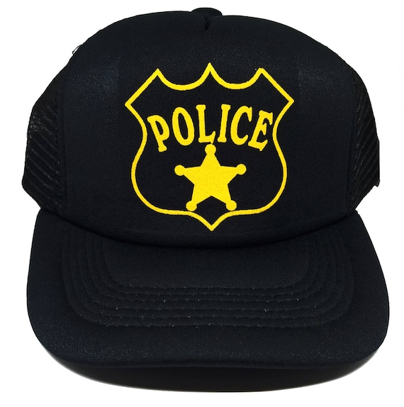 Security Police Officer Cop Law Trucker Mesh Snapback Black Baseball Hat Cap