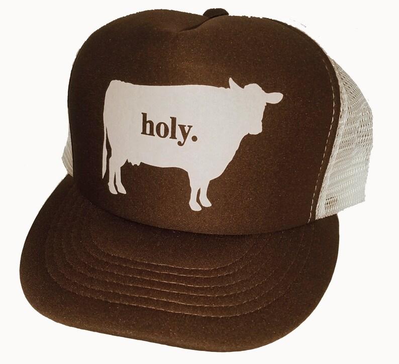 ba8df4f48a8 Holy Cow Snapback Mesh Trucker Hat Cap Brown
