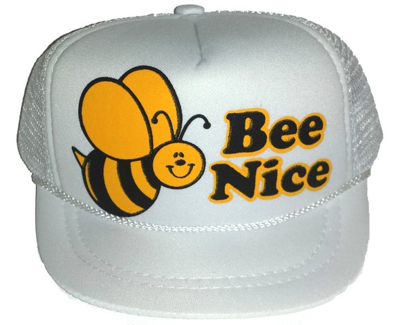 Baby Infant Bee Nice Mesh Trucker Hat Cap Newborn Surf White  1194deebe210