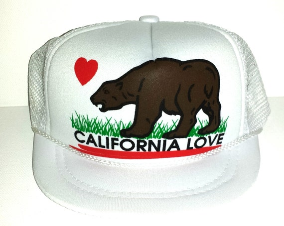 ... California Love White Baby Sized Mesh Trucker Hat Cap Newborn Infant 9a0e316e8368