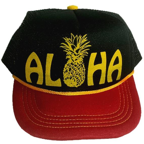 2ed0dcffb33 Aloha Black 3-24 months Baby Infant Child Pineapple Hawaii Mesh Trucker Hat  Cap Snapback