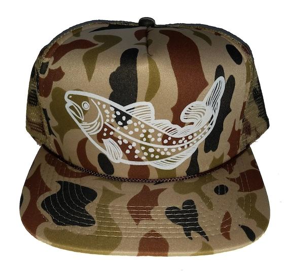 Trout Tan Camouflage Camo Snapback Mesh Trucker Hat Cap  384553a0b4e