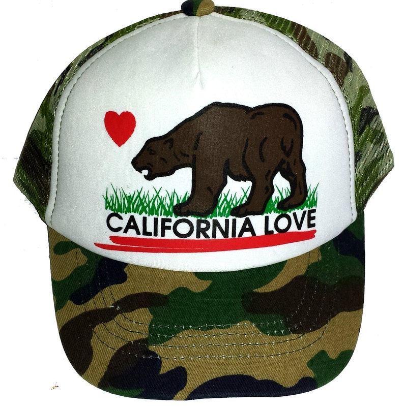 7011270bd4ed9 Kid's Youth TODDLER Camouflage California Love Mesh Trucker Hat Cap