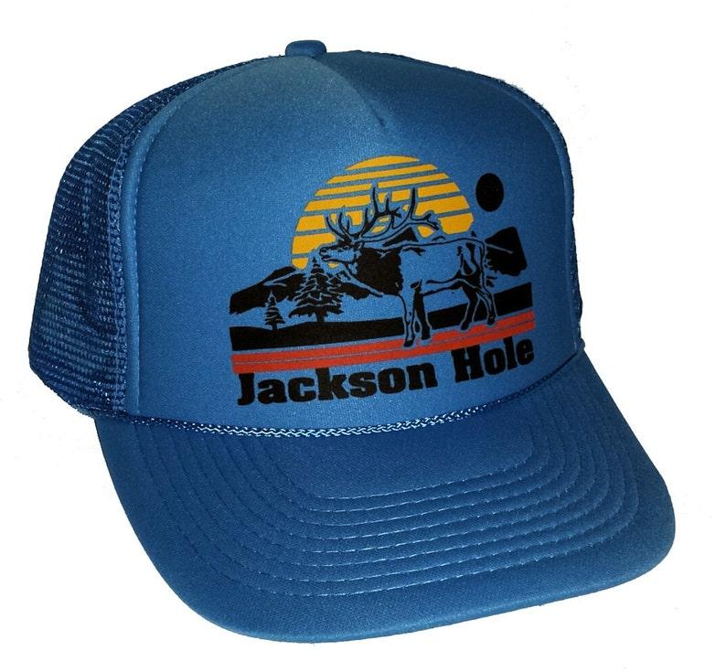 08ac40d7018ce4 Jackson Hole Deer Mesh Trucker Hat Cap | Etsy