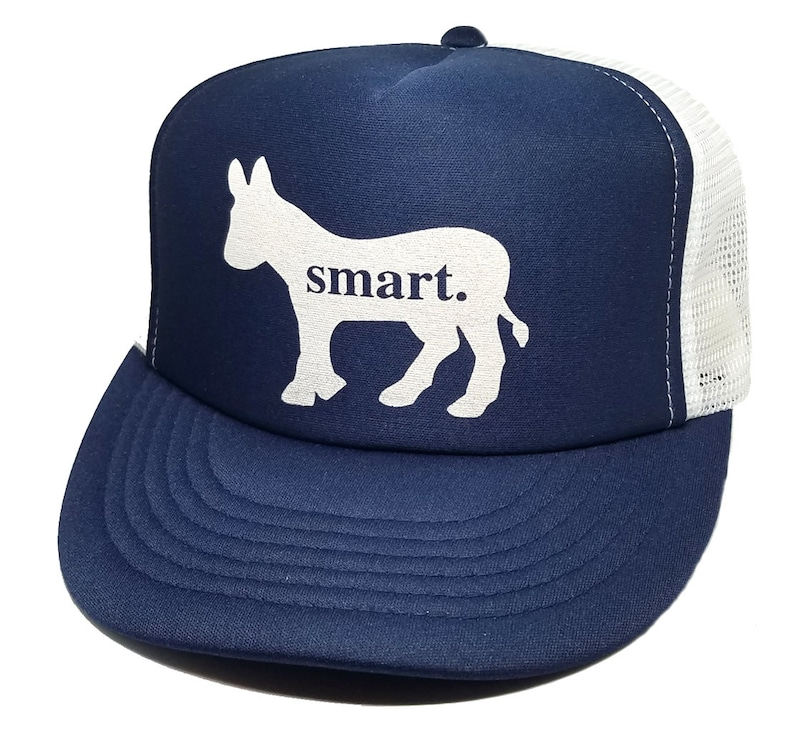 Smart Ass Donkey Snapback Mesh Trucker Hat Cap Navy Blue  85da0c286ab9