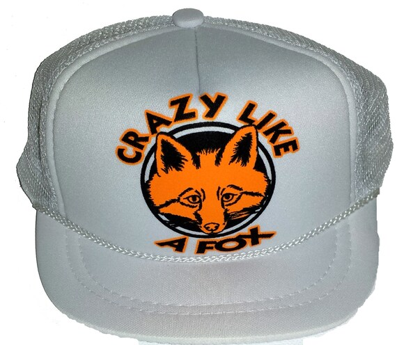 ... Crazy Like a Fox White Baby Sized Mesh Trucker Hat Cap Newborn Infant b82dbcc71751