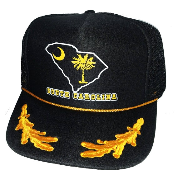 South Carolina Palmetto Black Captain Snapback Mesh Trucker  57f1d6a9c370