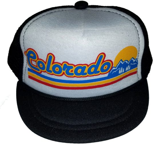61a93852d062e Colorado Sunset Snapback Baby Sized Mesh Trucker Hat Cap