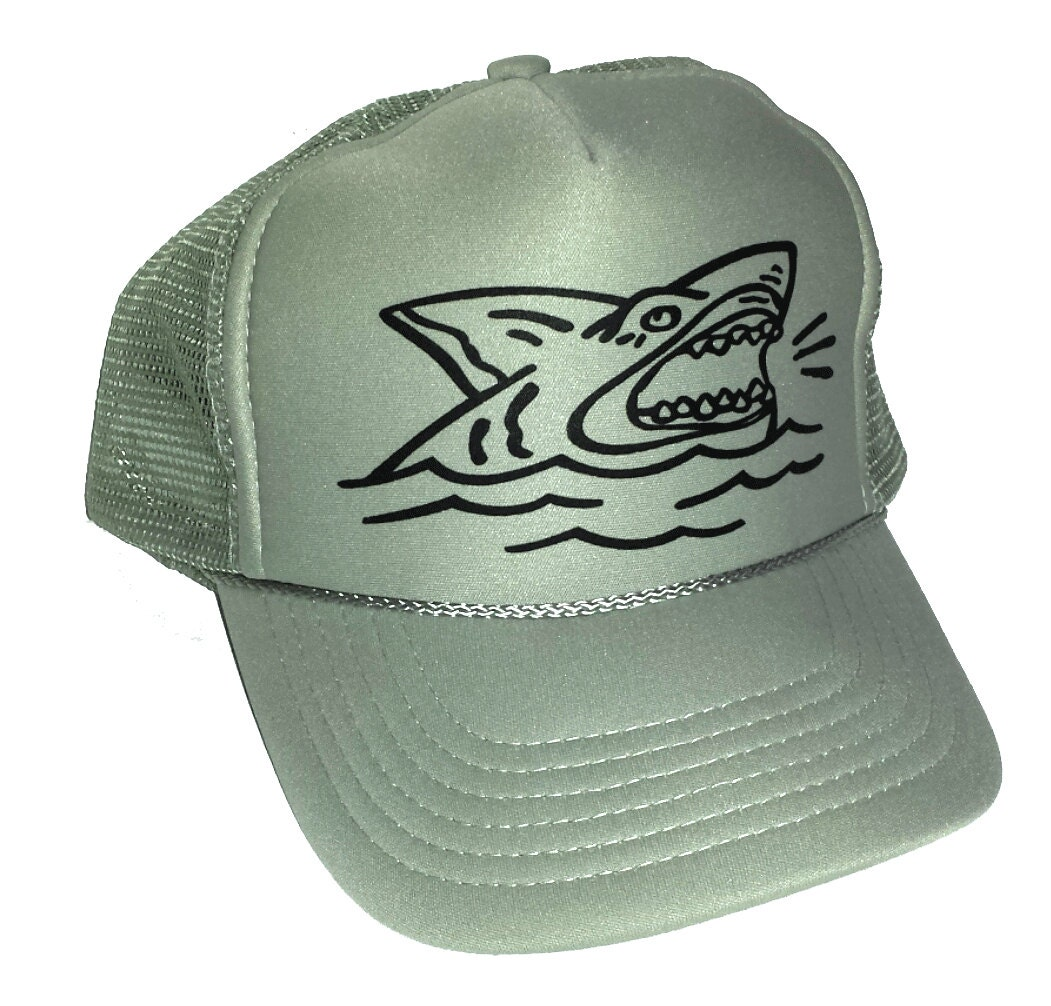 a6ed0744767 KID S Toddler Shark Mesh Trucker Hat Cap Youth Snapback