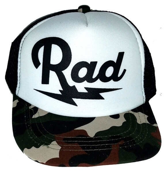 558cbdf1d99e4 Kid's Youth TODDLER Rad Radical Mesh Trucker Hat Cap Camo Camouflage