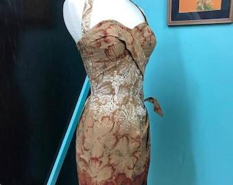Vintage Alfred Shaheen Tiki Halter Sarong Hawaiian Dress