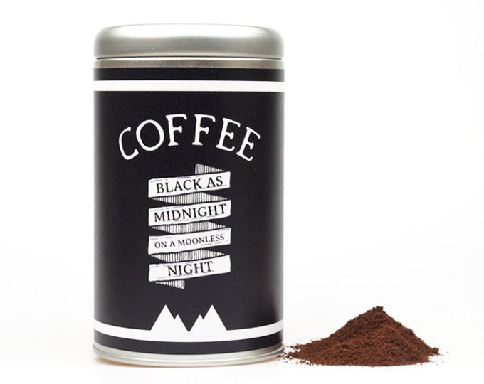COFFEE CANISTER black as midnight