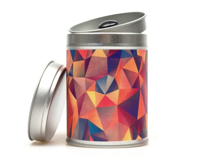 POLYGON II Tea Caddy