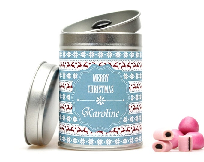"MERRY CHRISTMAS ""Your Name"" Gift Tin"